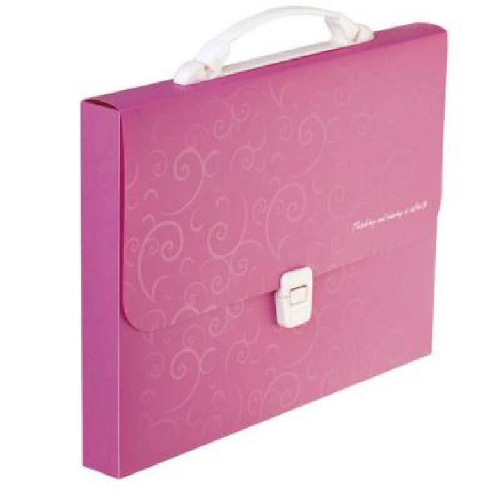Портфель пластиковий Buromax Barocco А4 рожевий (BM.3719-10)