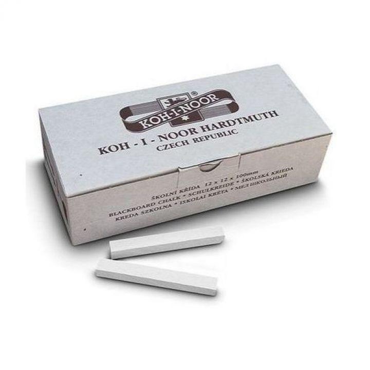 Набір крейди KOH-I-NOOR 12 х 12 х 100 мм білий 100 шт (111502)