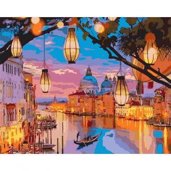 Картина по номерам в подарочной коробке Вечерние огни 40 x 50 см