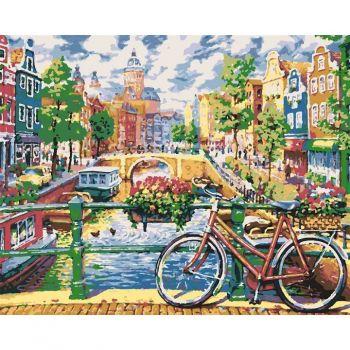 Картина по номерам в подарочной коробке Чарующий Амстердам 40 x 50 см