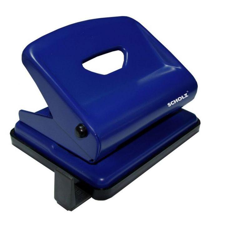 Дырокол металлический Scholz синий 25 листов (4318 blue)