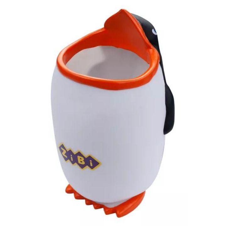 Підставка-стаканчик Пінгві ZiBi Kids Line Оранжево-білий (ZB.3009)