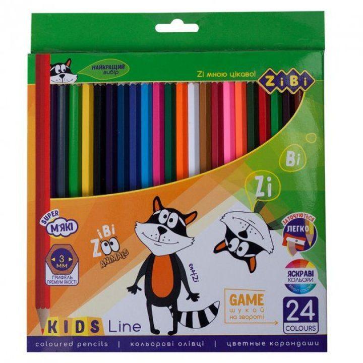 Олівці кольорові ZiBi 24 цвета 24 шт (ZB.2416)