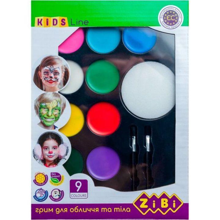Фарби для гримування обличчя і тіла ZiBi Kids Line 9 цветов (ZB.6570)