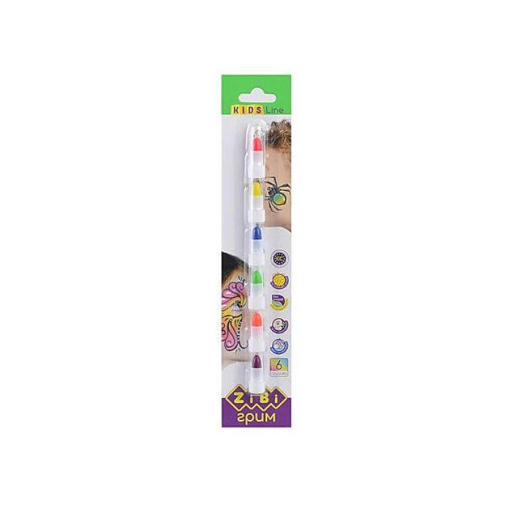 Олівці для макіяжу обличчя і тіла ZiBi Kids Line неон 6 цветов (ZB.6571)