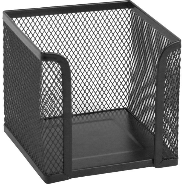 Металева підставка-куб для паперу Scholz квадратна 100 х 100 х 100 мм чорний (2112-01-A)