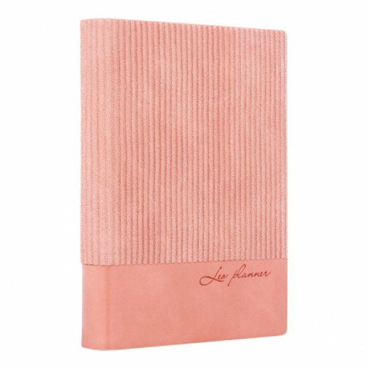 Щоденник недатований Leo Planner Velvet А5 352 листов рожевий (252030)