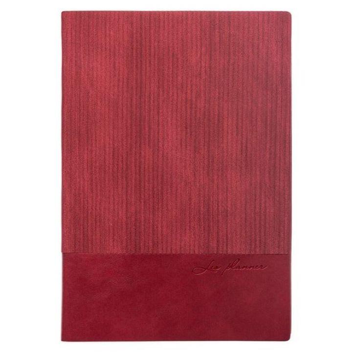 Щоденник недатований Leo Planner Velvet А5 352 листов бордовий (252031)