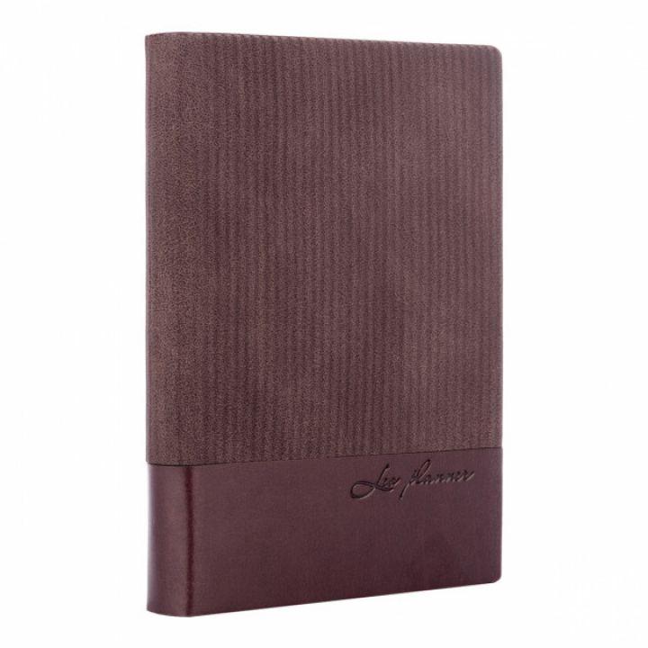 Щоденник недатований Leo Planner Velvet А5 352 листов коричневий (252033)