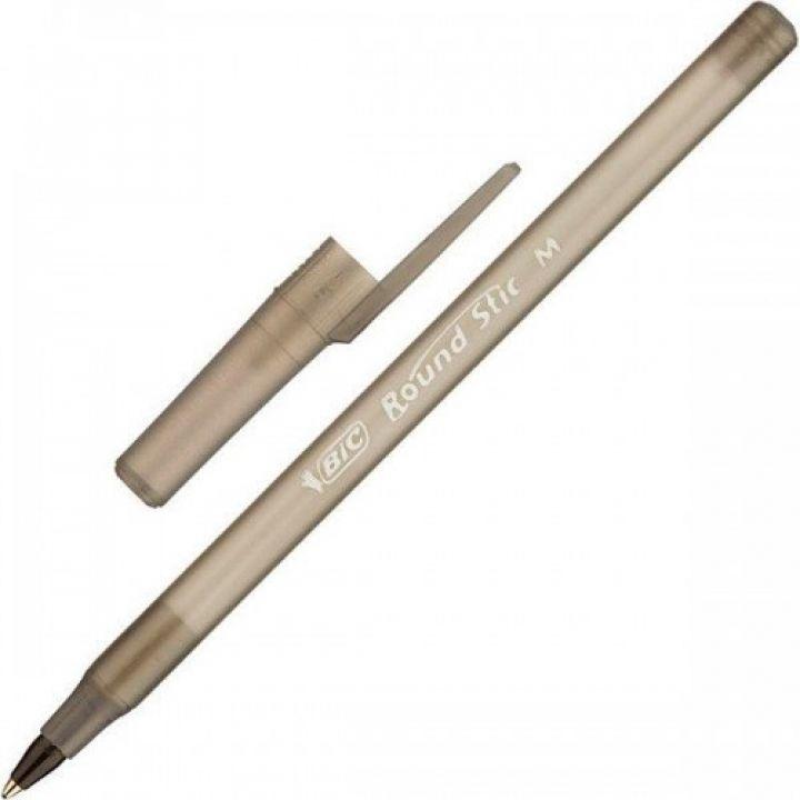 Ручка кулькова BIC Round Stick чорний (3086123269828/3086123256385)