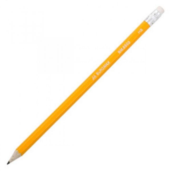 Олівець графітовий HB з ластиком Buromax 1 шт (BM.8500)