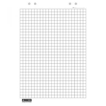 Блок бумаги для флипчартов клетка