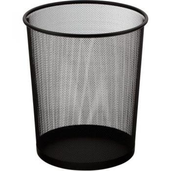 Корзина для бумаг круглая металлическая