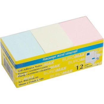 Блок бумаги для заметок 38 х 51 мм 100 листов