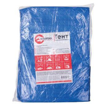 Тент синій, поліетиленовий, щільністю 65г / м, з вушками і двосторонньої ламінацією, 8 * 12м