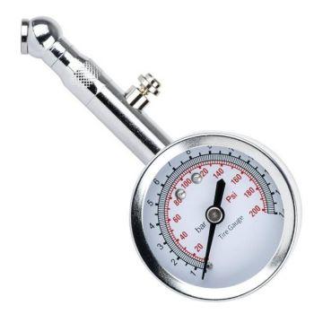 Измеритель давления в шинах стрелочный металлический корпус.