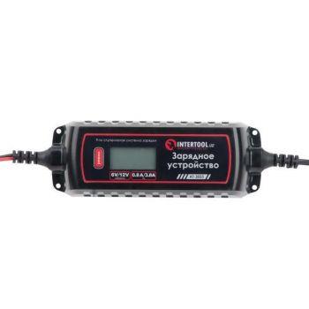 Зарядное устройство 6/12В, 0.8/3.8А, 230В, зимний режим зарядки, дисплей, максимальная емкость заряжаемого аккумулятора 1.2-120 а/ч