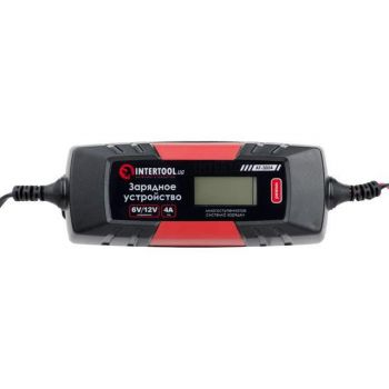 Зарядное устройство 6/12В, 1/2/3/4А, 230В, зимний режим зарядки, дисплей, максимальная емкость заряжаемого аккумулятора 1.2-120 а/ч