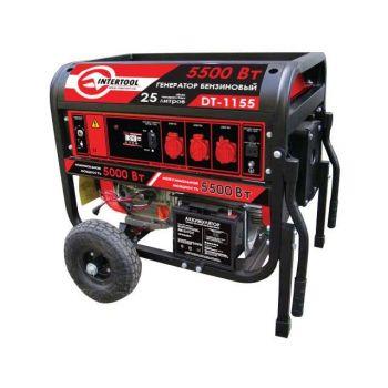 Генератор бензиновый макс. мощн. 6 кВт., ном. 5.5 кВт., 13 л.с., 4-х тактный, электрический и ручной пуск, комплект колес и ручек, 96 кг
