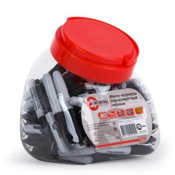 Міні-маркери перманентні чорні, L = 93мм, 80 шт / упак.
