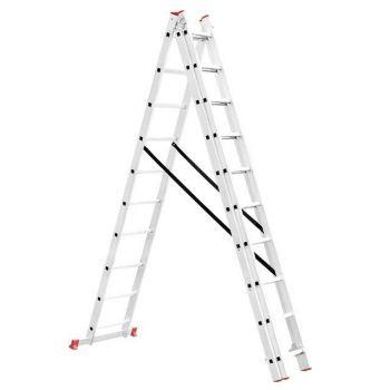 Лестница алюминиевая 3-х секционная универсальная раскладная 3*10ступ. 6.77м