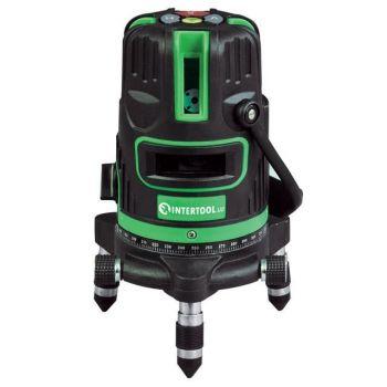 Уровень лазерный Проф. 5 лазерных головок, зеленый лазер, звуковая индикация.