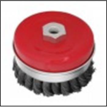 Щітка чашкова посилена 80 мм, для УШМ, М14 (пучки кручений дроту)