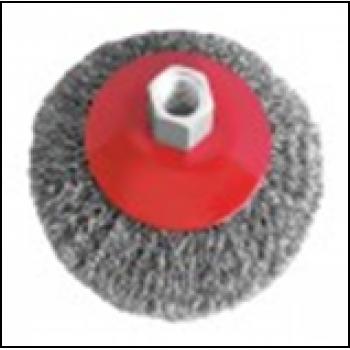 Щітка конусна 100 мм, для УШМ, М14 (кручена дріт)