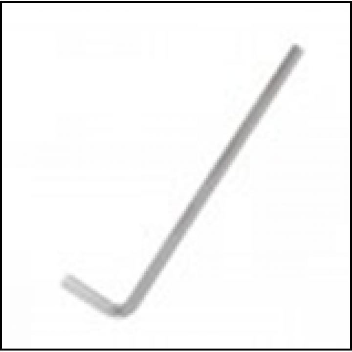Ключ L-подібний шестигранний 6мм, 133 * 30мм INTERTOOL (HT-1856)