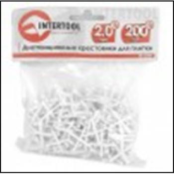 Набор дистанционных крестиков для плитки 2.0мм/200шт