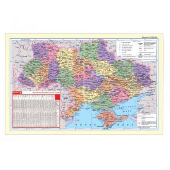 Подложка настольная карта Украины