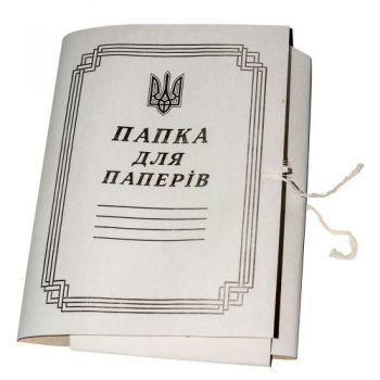Папка на зав'язках А4 картон Україна