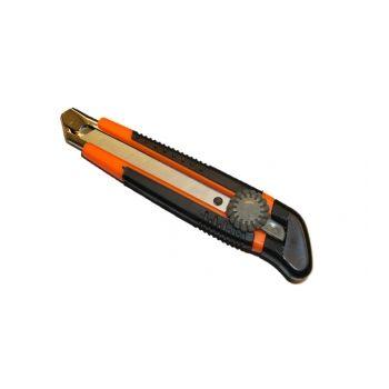 1076-09-03 Нож, 18 мм, выдвижное лезвие, обрезиненный