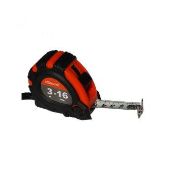 3100101 Рулетка 3м x 16мм 2х сторонняя шкала и зацеп, магнит