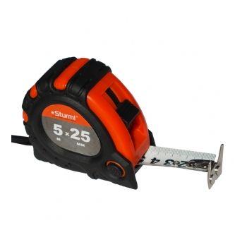 3100102 Рулетка 5м x 25мм 2х сторонняя шкала и зацеп, магнит
