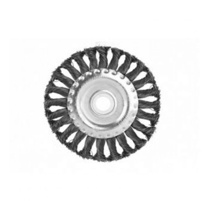 Щітка для УШМ 150 мм радіал.стальн.вітая пров STURM (9017-03-WB150)
