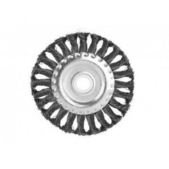 9017-03-WB180 Щетка для УШМ 180 мм радиал.стальн.витая пров.