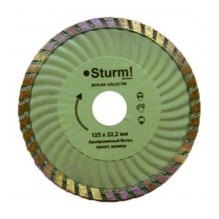 Алмазний диск ТурбоWave d = 115 мм, 20-22% STURM (9020-04-115x22-TW)