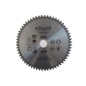 9020-210-30-60TA Диск пильний 210х30 мм 60 зубів ламінат / алюміній / пластик