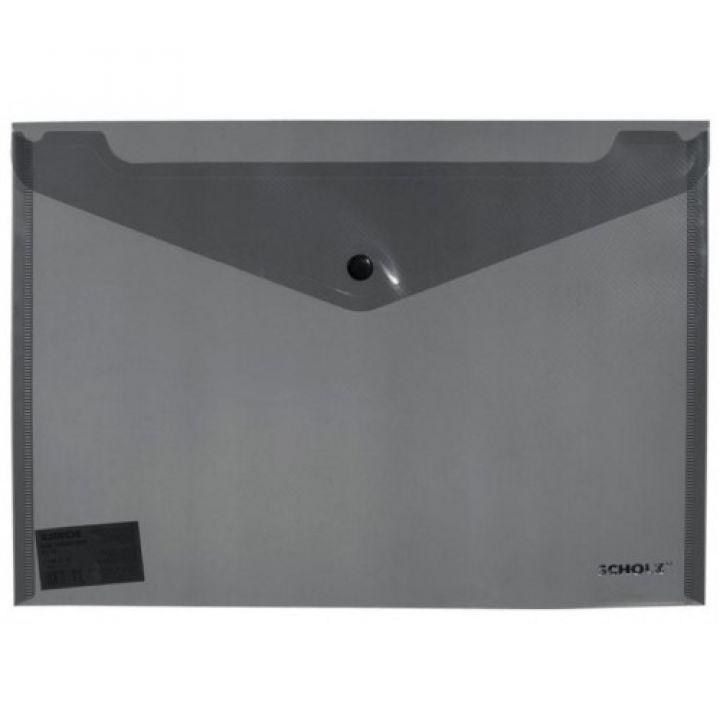 Папка-конверт А4 поліпропілен на кнопці Scholz (Sch03500)