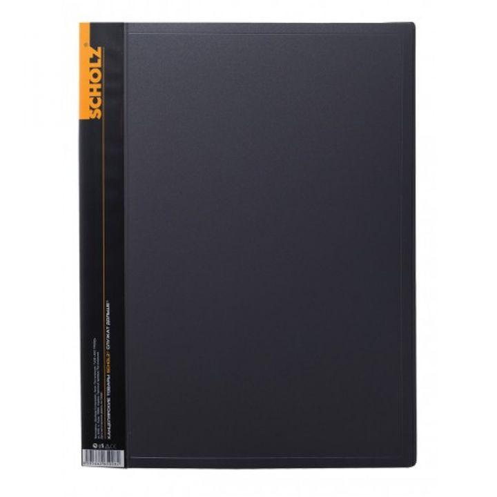 Папка з файлами Scholz А4 чорний (06500)