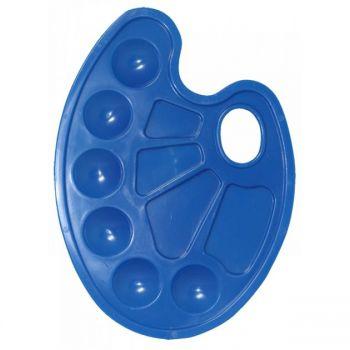 Палитра овальная синяя