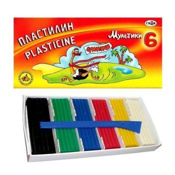 Пластилин Мультики в картонной упаковке